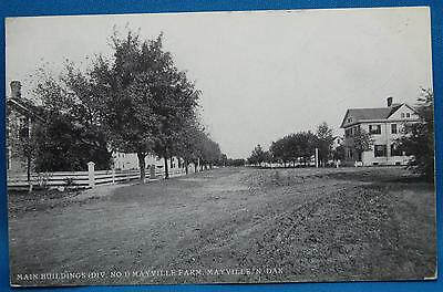Mayville Farm Buildings Division 1 Mayville North Dakota ND Photo Postcard 1907
