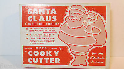 """8"""" VINTAGE Santa Cookie Cutter HUGE! With Original Box for Christmas"""
