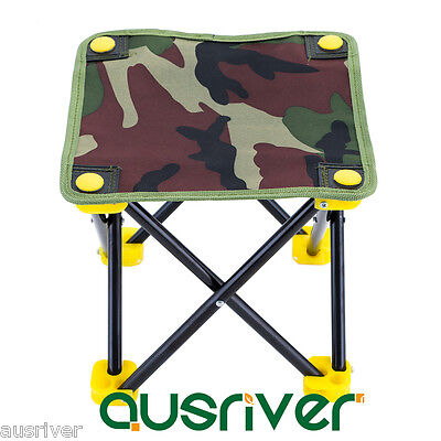 Fishing Outdoor Small Camouflage Chair Seat Folding Cloth Portable Stool Sport