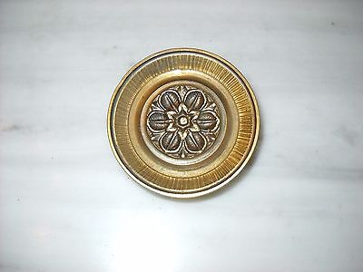 Vintage Greece Solid Brass Large Ornate Door Knob Handle Push/Pull #15