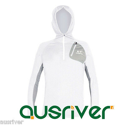 Men's Hoody Jacket Outdoor Sun Clothes Fishing Anti UV Quick Dry Longsleeve Mask