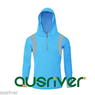 5Size Men's Hoody Jacket Outdoor Sun Clothes Fishing AntiUV Quick Dry Longsleeve