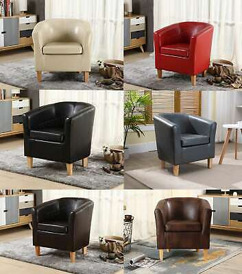 FoxHunter Faux Leather PU Tub Chair Armchair Dining Room Modern Office Furniture