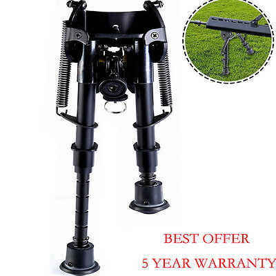 "6""- 9"" Adjustable Spring Bipod For Shooting Hunting Air Rifle Gun Swivel Sniper"