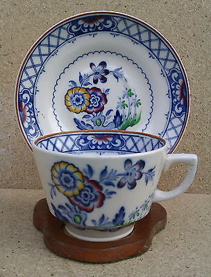 George Jones & Sons - Crescent Pottery Cup & Saucer.