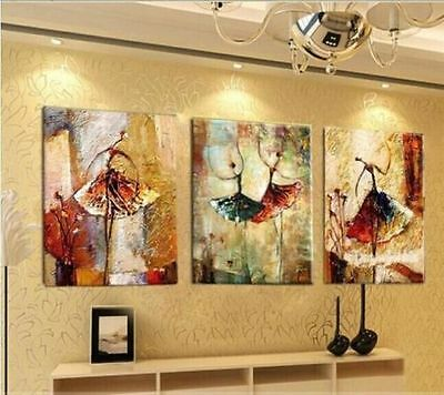3pc MODERN ABSTRACT HUGE LARGE CANVAS ART OIL PAINTING {NO FRAMED}
