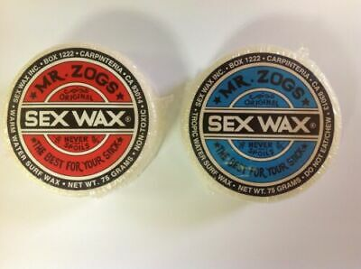 Mr Zogs Sex Wax Base Coat and Cold Water Top Coat Surfboard Wax