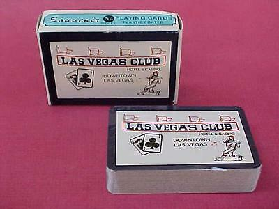 Vintage 1970's Playing Cards LAS VEGAS CLUB Casino Souvenir deck of sealed Cards