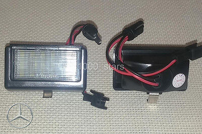 2x LED LICENSE NUMBER PLATE LIGHT MERCEDES BENZ ML W164 GL X164 MATRICULA TARGA