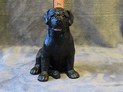 Mastiff Plaster Dog Statue Hand Cast And Painted By T.c. Schoch