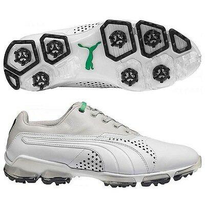 New Men's Puma Titantour Golf Shoes White/grey 188056-04 - Pick Your Size