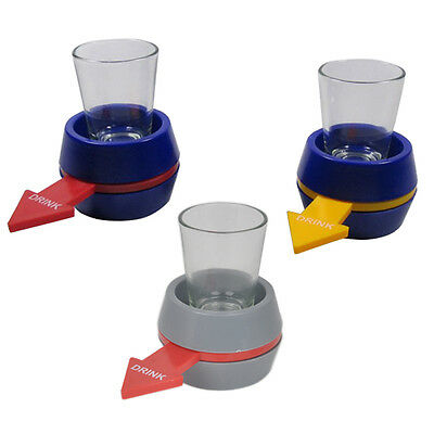 Spin the Shot Glass Alcohol Drinking Game Party Shooters Bomb Funny Spin Game