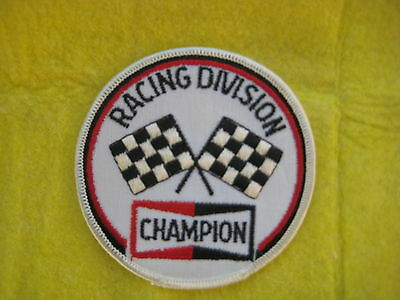 """Vintage Champion  Racing Division Patch  3 1/2  """" X  3 1/2 """""""