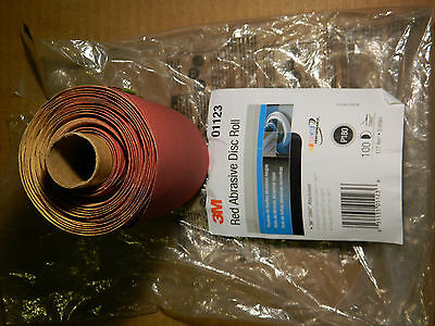 """Brand New 3M 01123 Stikit™ Attachment Red Abrasive Disc Roll 5"""" P180 100 Discs"""