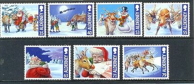 Alderney Christmas 2013 new issue mnh set of 7-Father Xmas-Reindeer