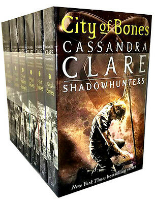 Cassandra Clare Set 6 Books Collection Mortal Instruments Series New Covers PB