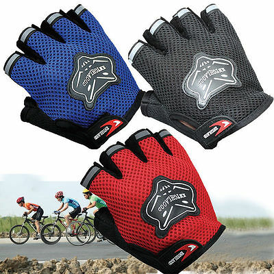 New shockproof Breathable Half Finger Mesh Gloves for Sports Bike Riding Outdoor
