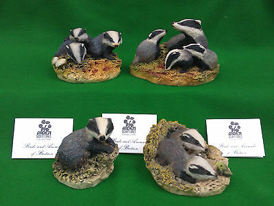 Arden Sculptures - Selection Of Badger Figurines.