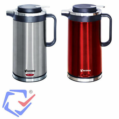 Energy Saving Electric Kettle Jug + Thermos Heat Insulating 360 Cordless 1.7L