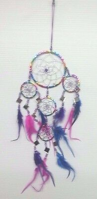 Wholesale Handmade Dream Catcher Colorfull mirror wall hanging FREE SHIP