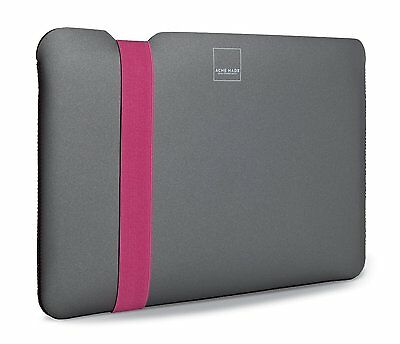 "Acme Made Skinny Sleeve for MacBook Air 11"" Grey/Pink Tablet Laptop Case Bag"