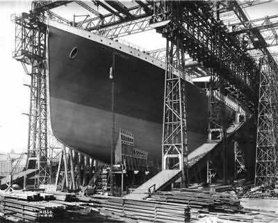Launch of RMS Titanic White Star Ocean Liner at Belfast Photo Print Picture