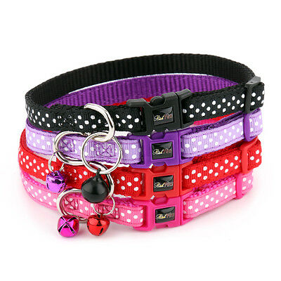 Cat Collar Polka Dot Spotti- Safety Buckles - RichPaw Cat Collars with bell