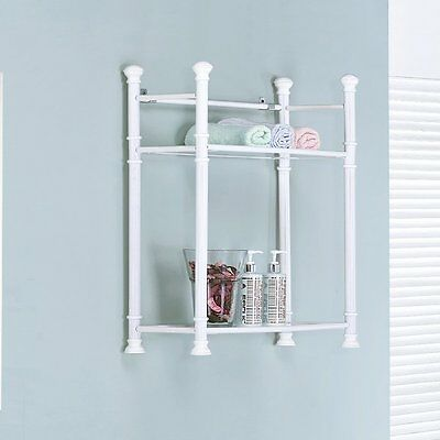 Monarch Specialties I 3425 26-in Bathroom Wall Mount Shelf