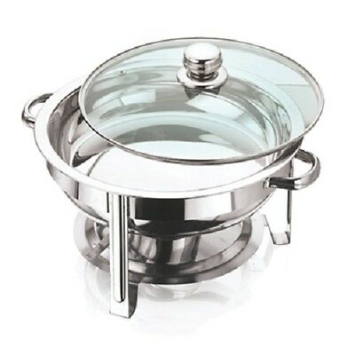 VINOD STAINLESS STEEL CHAFING DISH SET - ROUND TABLE TOP FOOD WARMER 4.5lt