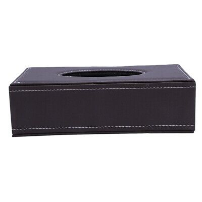 Portable Leather Brown Rectangular Tissue Box Pumping Paper Hotel Home Car Decor