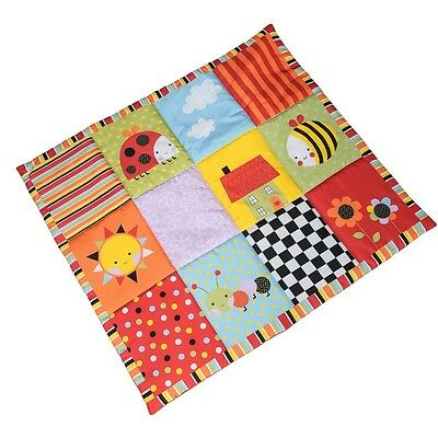 Red Kite Garden Gang Playmat Padded Crawling Mat Baby Activity Pad with Squeaker