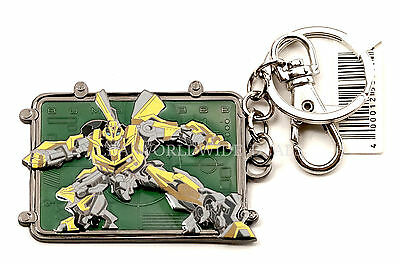 NEW Universal Studios Transformers Bumblebee Green Metal Keychain / Key Ring