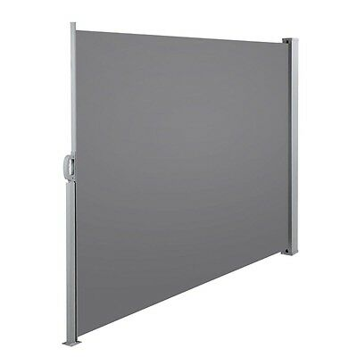 Retractable Side Awning Shade 180cm Grey Outdoor Sun Weather Protection