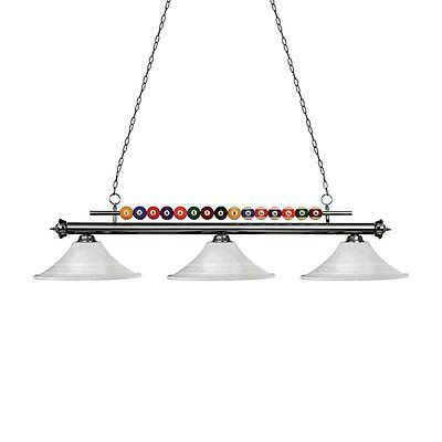 Z-Lite 170GM-FWM16 FWM16 Shark 3-Light Pool Table Light