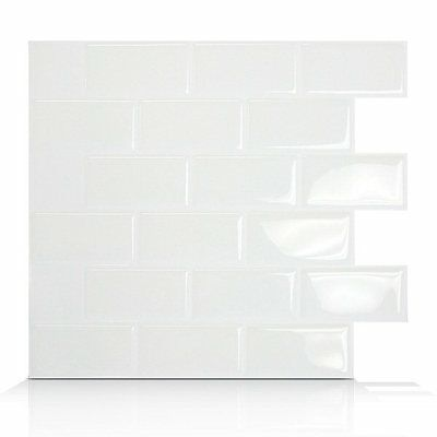 Smart Tiles SM1020-6 Subway Self Adhesive Wall Tile
