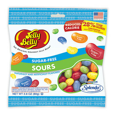 3 x Jelly Belly Sugar Free Sours Candies 80 g, Diabetic, Low Carb,No Sugar Added