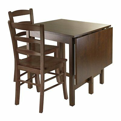Winsome Wood 94343 Lynden 3-Piece Drop Leaf Dining Table Set
