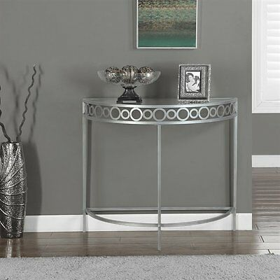 Monarch Specialties I 2120 36-in Metal Hall Console Accent Table