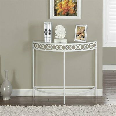 Monarch Specialties I 2122 36-in Metal Hall Console Accent Table
