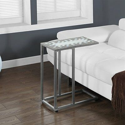 Monarch Specialties I 3144 Tile Top Metal Accent Table