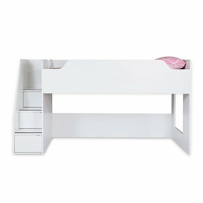 South Shore Furniture 3880087 Mobby Loft Bed with Stairs