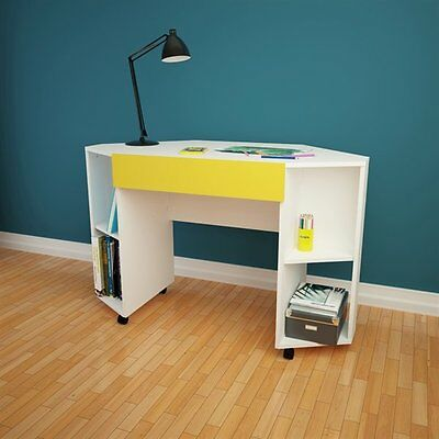 Nexera 331838 Taxi Mobile Corner Desk with Drawer
