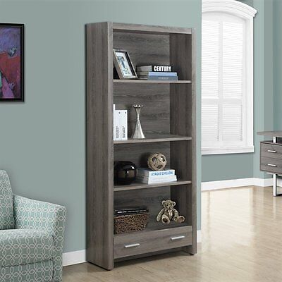 Monarch Specialties I 7087 71-in Bookcase with Drawer