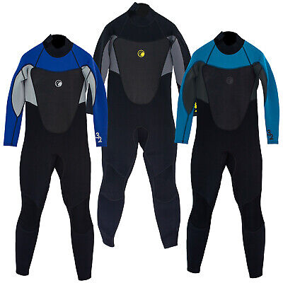 Odyssey Core 3/2mm Mens Full Wetsuit Surf Swim Kayak Long Steamer Wet Suit S-XXL