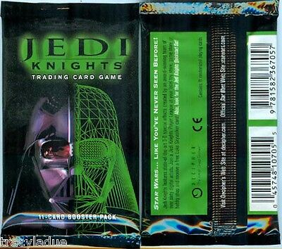 Jedi Knights Factory Sealed Booster Pack X1  Star Wars Decipher 11 Cards/pack