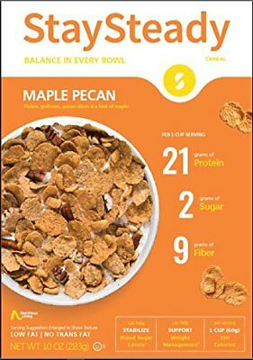 Nutritious Living StaySteady Cereal Maple Pecan 283 g, Low Carb, No Added Sugar