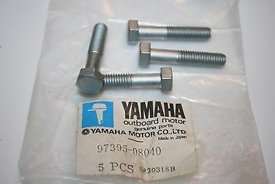 4 nos Yamaha outboard upper casing bolts 97395-08040 8 x 40mm 9.9 15 hp galv.