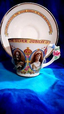 1935 Paragon Silver Jubilee Hrh King George V & Queen Mary Teacup And Saucer