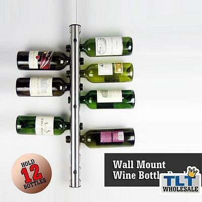 Wine Bottle Holders Rack Decor hold 12 bottle Wall Mount