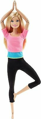 Made To Move Barbie Yoga Ultimate Posable Fashionistas 2015 Blonde BNIB Pink Top